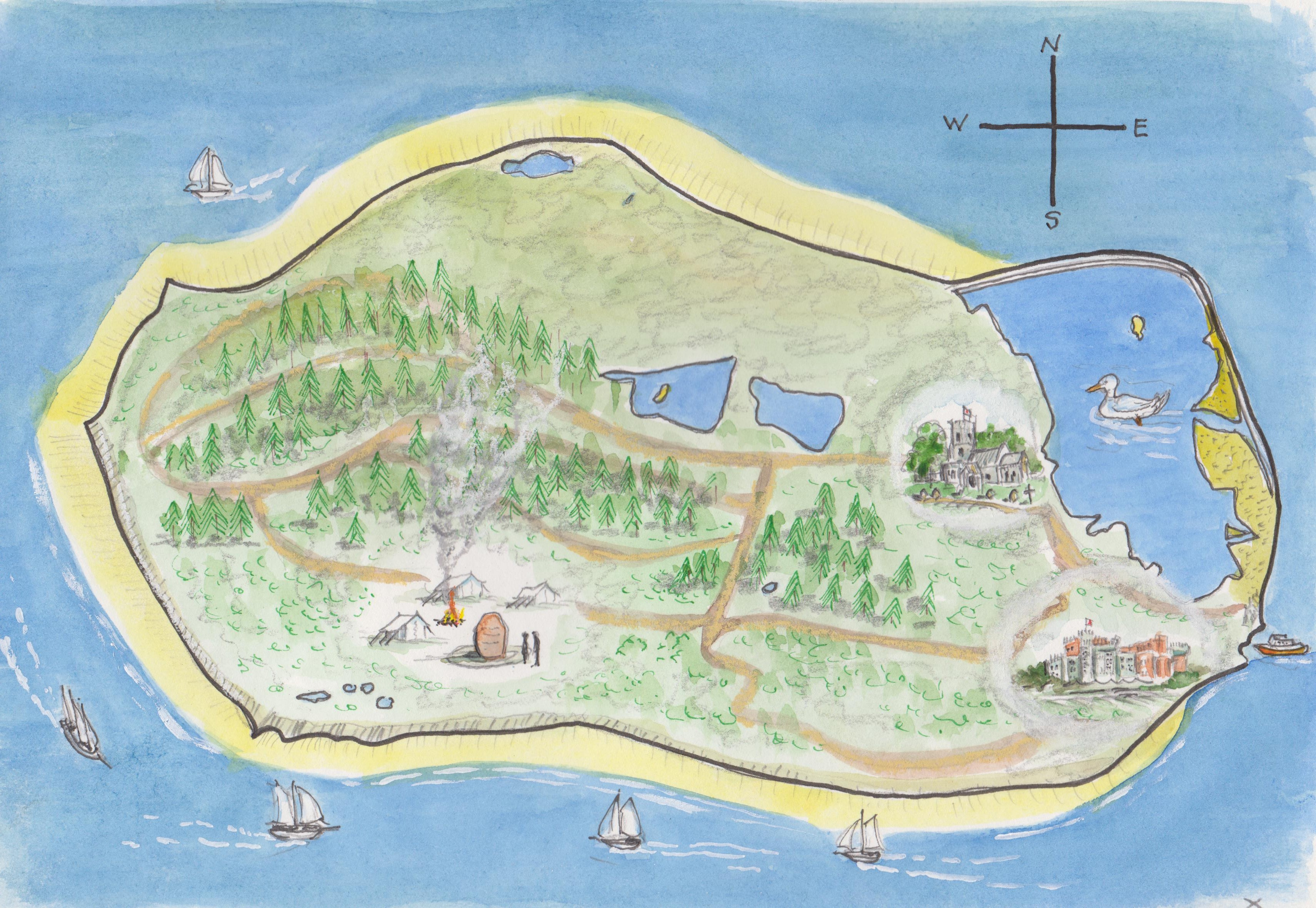brownsea map